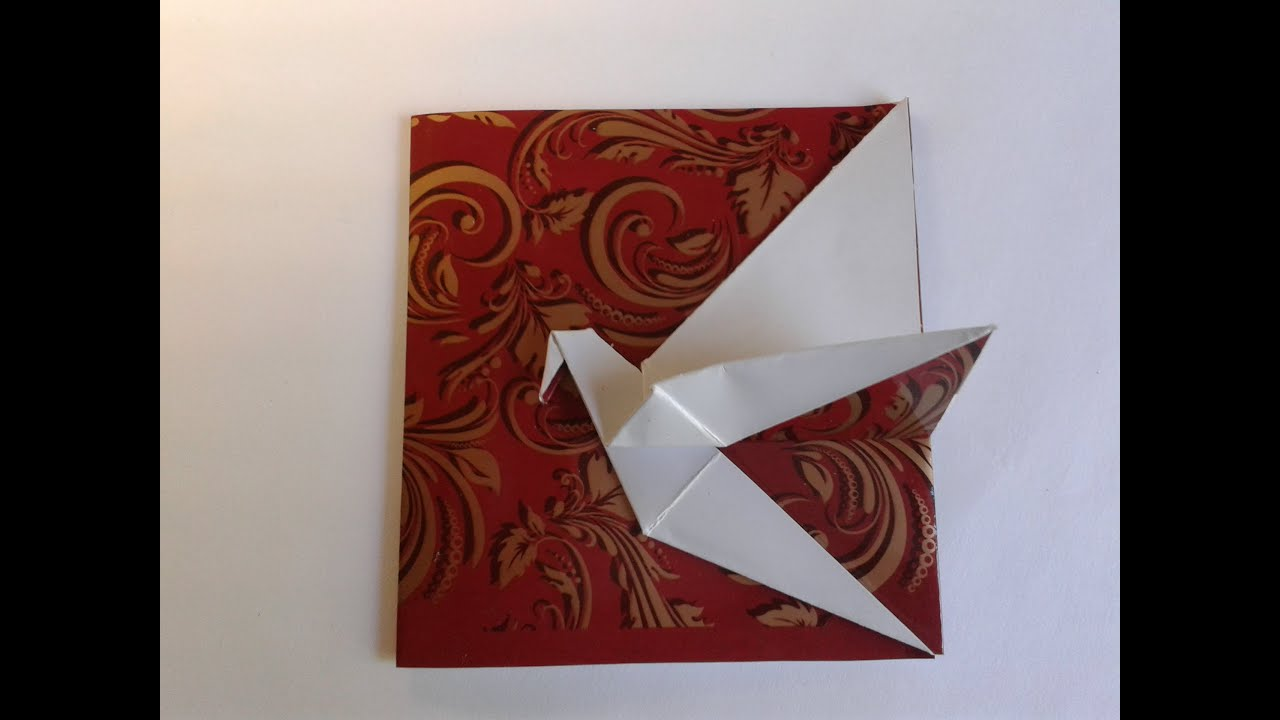 Card Ideas The Origami Crane Card открытка журавлик Youtube