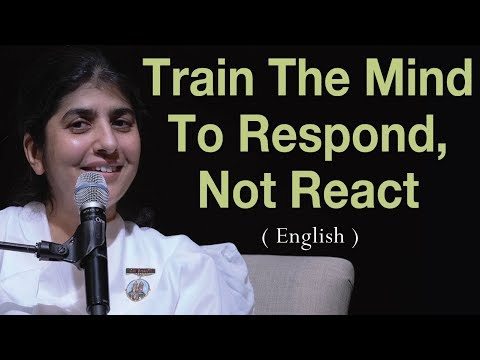 Train The Mind To Respond Not React: BK Shivani at Vancouver Canada English