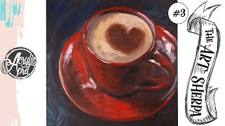 Скачать Easy Cup Of Coffee Loose Step By Step Acrylic April Day 3