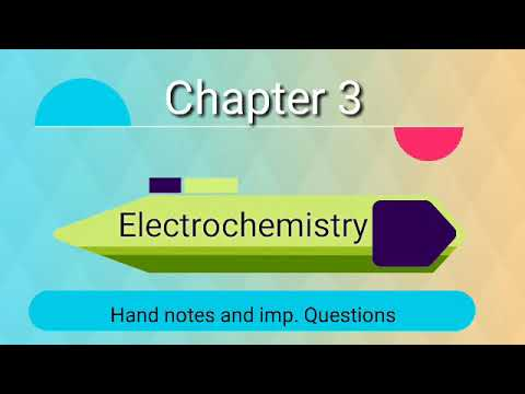 Chemistry || chapter3 || Electrochemistry || Hand notes
