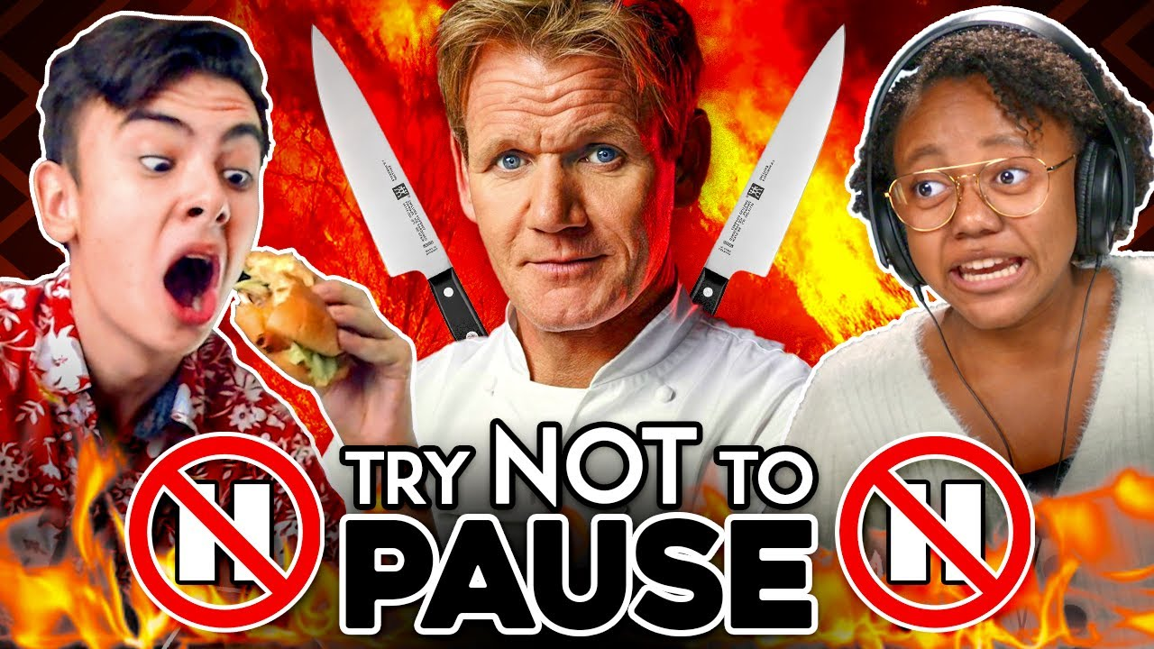 Try Not To PAUSE Challenge (Gordon Ramsay 10 MIN Burger Battle)