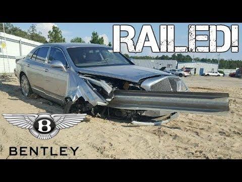 This $300,000 Bentley Ran THROUGH A Guardrail & It