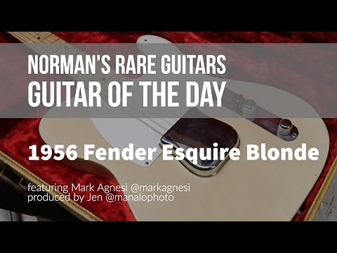 Norman's Rare Guitars - Guitar of the Day: 1956 Fender Esquire Blonde