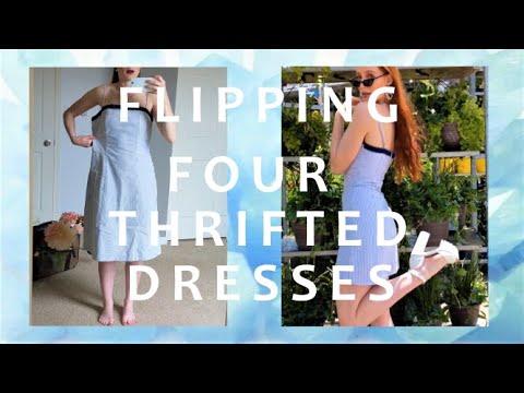 HUGE THRIFT TRANSFORMATION   I FLIPPED 4 DRESSES! 5