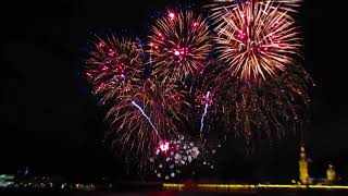 Фестиваль огня в Санкт- Петербурге. Fireworks in St. Petersburg