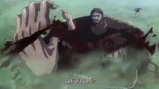 Levi (God mode )Vs beast Titan - Sub indo Full fight !