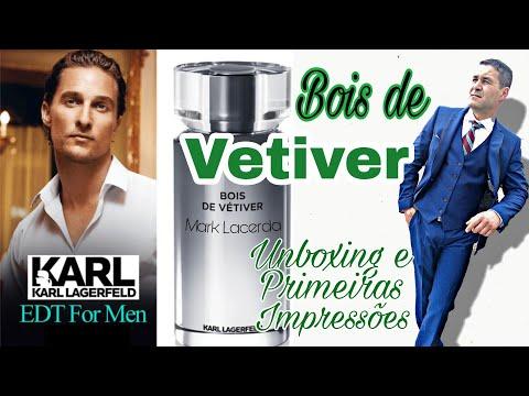 Perfume Bois De Vetiver Unboxing E Primeiras Impressões Karl Lagerfeld