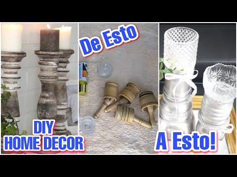 IDEAS PARA DECORAR TUS MESAS / DIY CANDELABROS DE MADERA / ElblogdeNelu