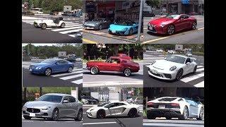 都内からの動画通達。ゴールデンウィーク最終日の東京のスーパーカーが...