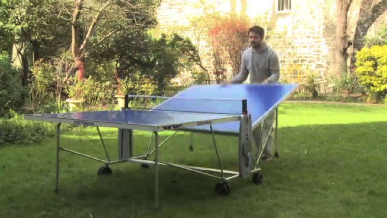 table pliante de ping pong outdoor tennis de table sur youtube. Black Bedroom Furniture Sets. Home Design Ideas