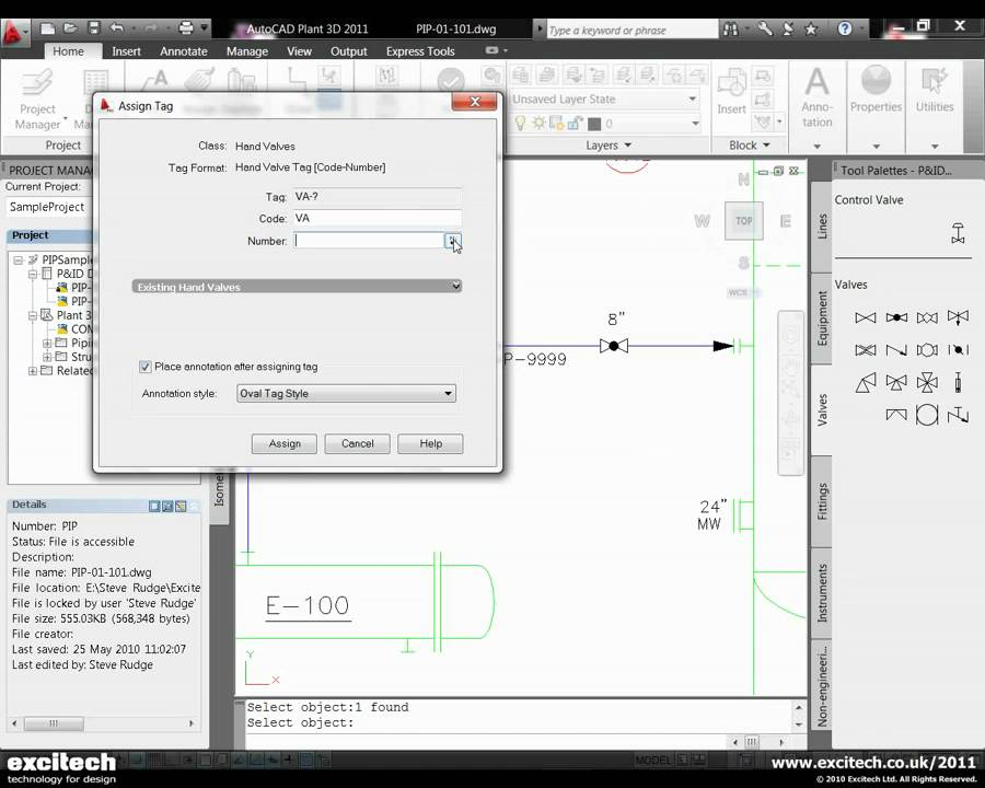 AutoCAD PID 2011 - Generating AutoCAD PID Diagrams - YouTube