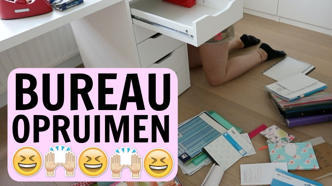 Bureau opruimen kamer opruimen 3 livelikefloor youtube for Bureau youtube