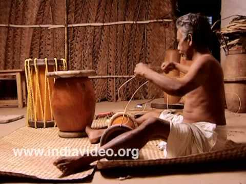 Making Thimila, another drum