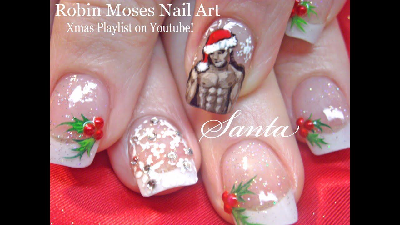 funny xmas nails sexy santa christmas
