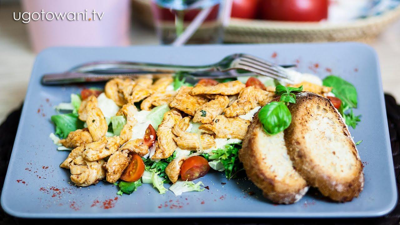 Przepis Fit Szybka Salatka Z Kurczakiem Bez Majonezu Ugotowani