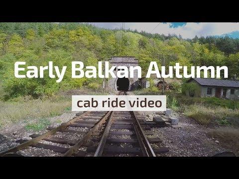 Cab Ride Bulgaria 🛤️ Early Balkan Autumn 🍂 Pirdop - Karlovo (BDZ Škoda 44 140 & train 3623)