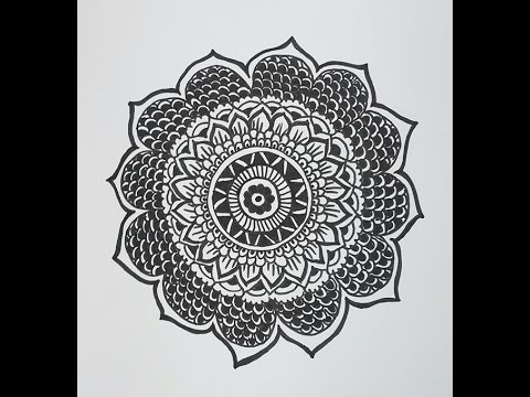 How to Draw a Mandala Design Mandala Flower Pattern YouTube