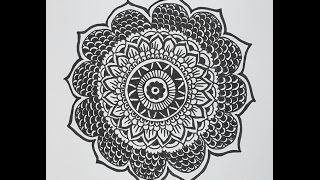 How to Draw a Mandala Design - Mandala Flower Pattern