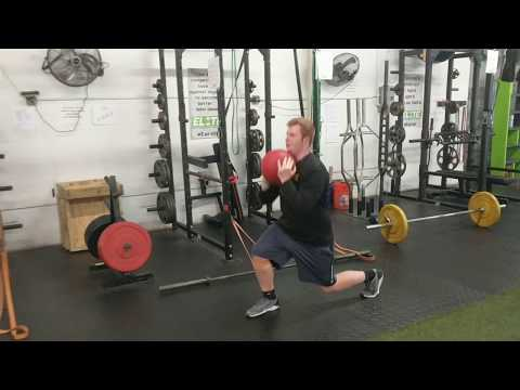 Elite Football Athlete, Brock, working to develop single-leg strength + stability
