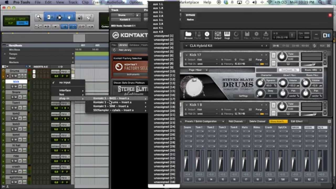 how to route kontakt 5 for mixing in your daw youtube. Black Bedroom Furniture Sets. Home Design Ideas