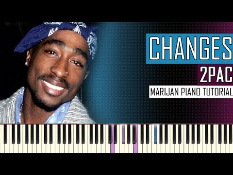 How To Play 2pac Changes Piano Tutorial Sheets Youtube