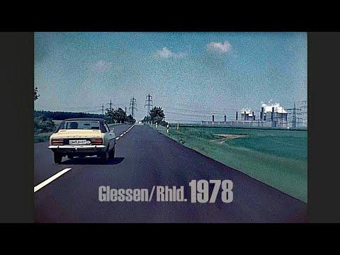 Glessen (Rhld.) 1978 - Autofahrt Landstraße Nach Niederaußem - Early Dashcam