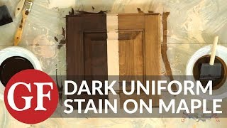 How to Achieve a Dark Uniform Stain Color on Maple