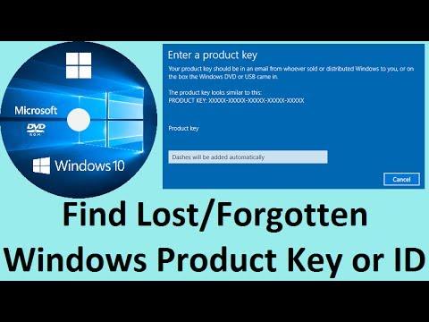 lost windows key 10
