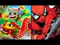 My Talking Tom Gold Run VS Spider-Man Unlimited - games Android&iOS (gameplay, review, walkthrough)