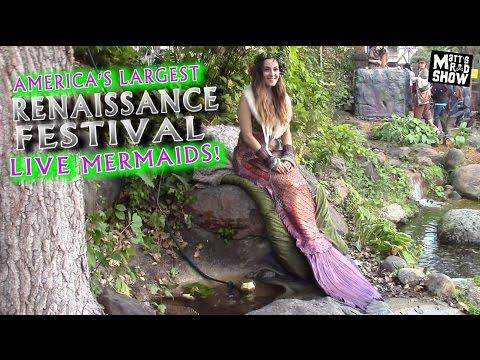 REAL LIVE MERMAIDS - America's Largest Renaissance Festival - Minnesota - Matt's Rad Show
