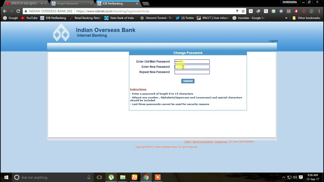 how to use netbanking in indian overseas bank