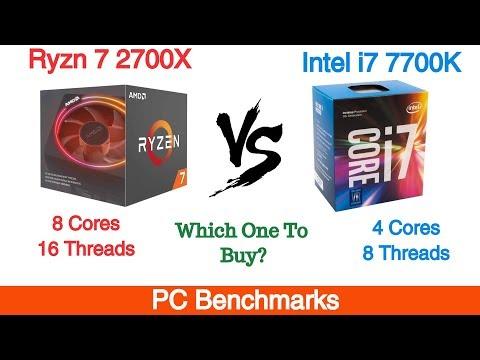 Ryzen 7 2700X Vs Intel I7 7700K Benchmarks