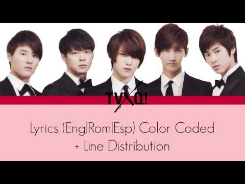 TVXQ - Mirotic Lyrics (Eng|Rom|Esp) Color Coded + Line Distribution