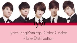 TVXQ Mirotic Lyrics Color Coded Line Distribution