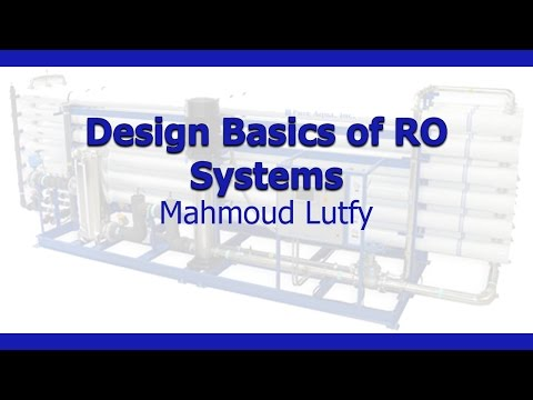 Design Basics of RO Systems