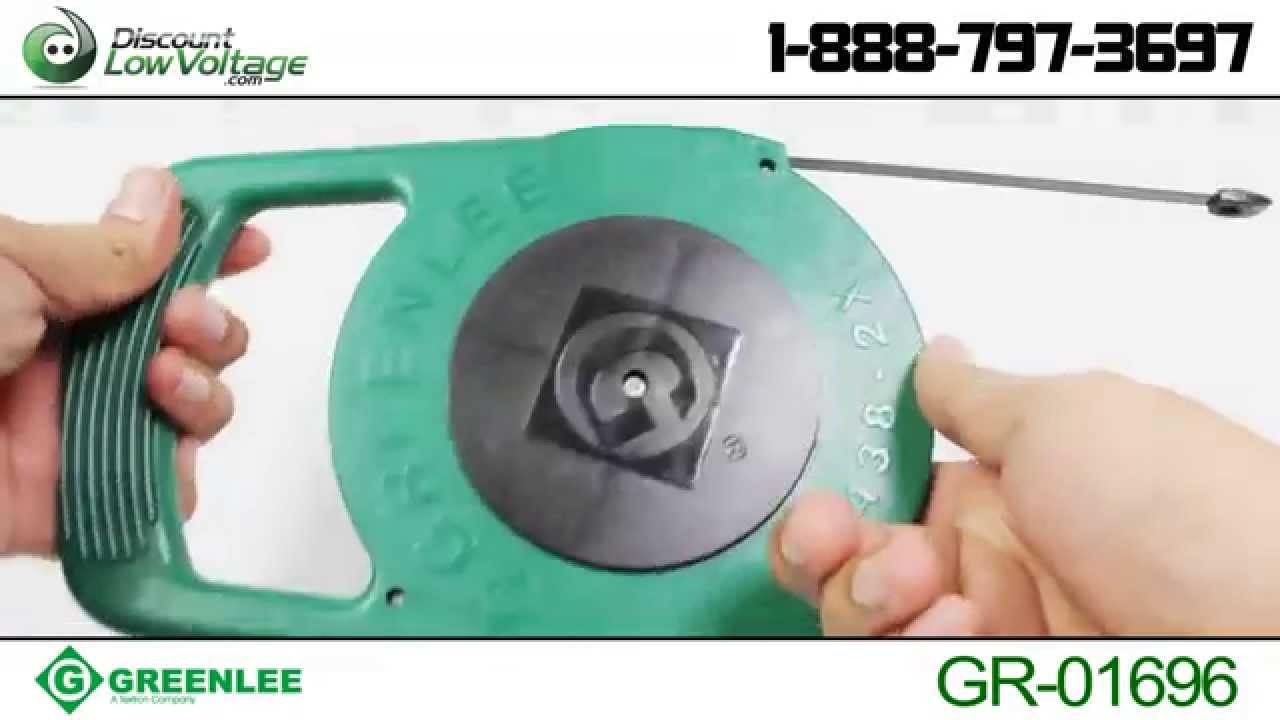 Greenlee 25ft Steel Fish Tape | Discount-Low-Voltage.com - YouTube