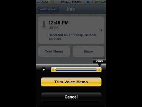 How to edit a voice memo on your iPhone
