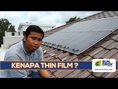 Mengapa guna panel solar fleksibel jenis Thin Film?