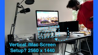 "Using an LG 25"" Ultrawide UNDER an iMac 27"" 5K   Mega Vertical Screen Space   Dual Monitors"