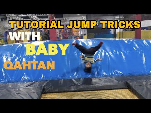 TUTORIAL JUMP TRICKS WITH BABY QAHTAN HALILINTAR #QAHTANDAILY
