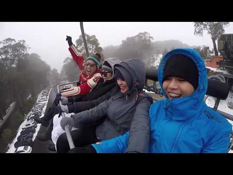 First Snow Experience At Mt. Buller Victoria, Australia
