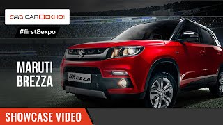 Maruti Suzuki Vitara Brezza | Showcase Video | CarDekho@AutoExpo2016(Know more about Maruti Suzuki Vitara Brezza at : https://www.cardekho.com/carmodels/Ma... Maruti showcased its first sub-4 meter SUV at the 2016 Indian Auto ..., 2016-02-03T04:36:44.000Z)