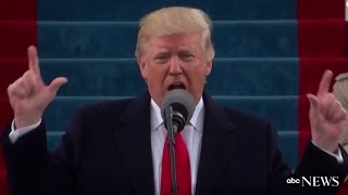 Trump Inauguration Speech (FULL) | ABC News(President Trump Inauguration Address | The 45th president of the United States speaks outside the Capitol building on Inauguration Day. During his inaugural ..., 2017-01-20T17:28:25.000Z)