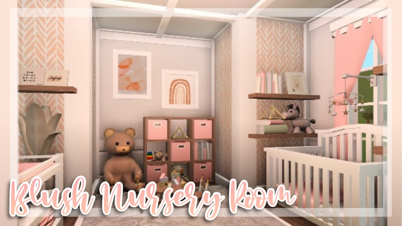 Blush Nursery Room SpeedBuild / Bloxburg Baby Update / Bloxburg SpeedBuild / Bloxburg - YouTube