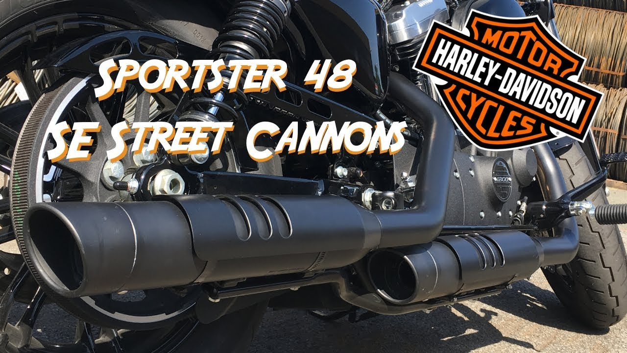 screamin eagle street cannons on sportster forty eight soundcheck auspuff exhaust