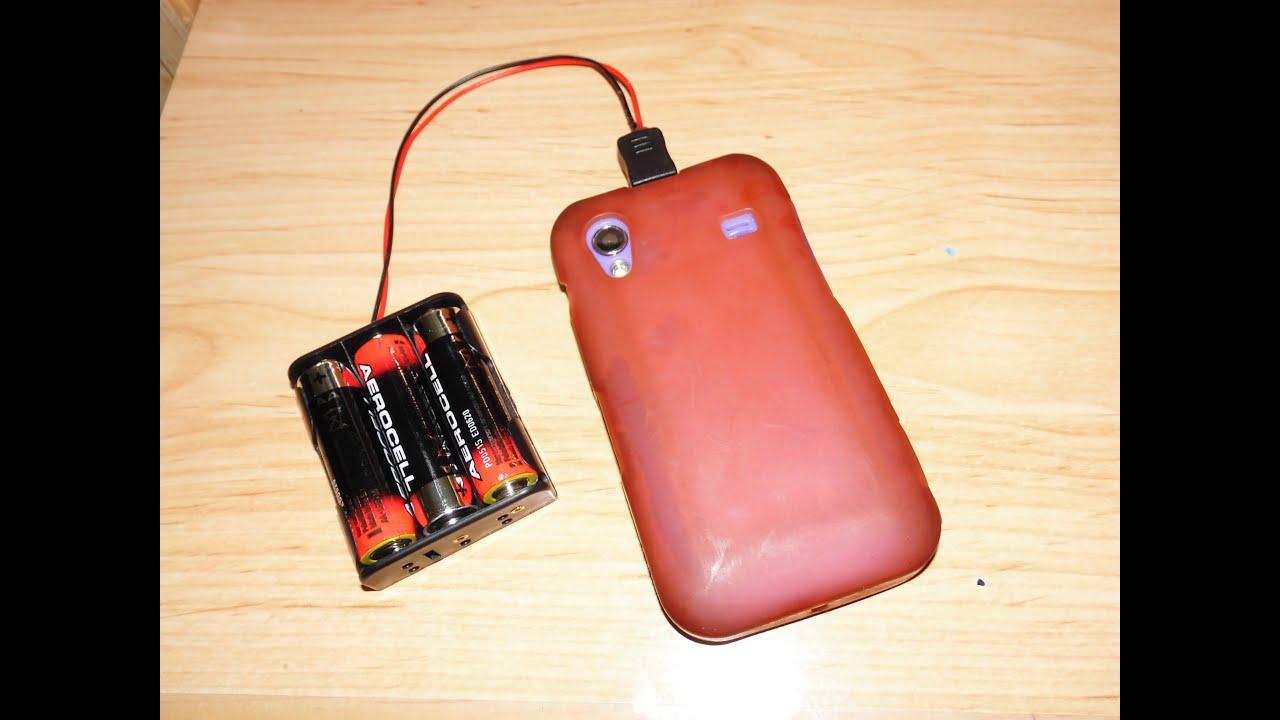 Como hacer o fabricar facilmente bateria portatil a pilas - Cargador para pilas ...
