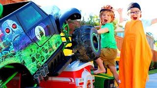 Monster Truck Madness Crush Power Wheels Cars | Monster Jam