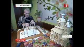 Церкви в миниатюре из спичек