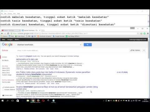 Tips Cara Mencari Referensi Makalah Skripsi Tesis Disertasi Jurnal Ilmiah di Internet