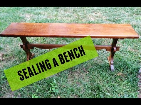 Sealing A Bench For Outdoor Use (with Helmsman Spar Urethane)   YouTube Part 87